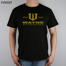 Wayne enterprises logo GOTHAM CITY BATMAN T-shirt Top Lycra Cotton Men T shirt(China)