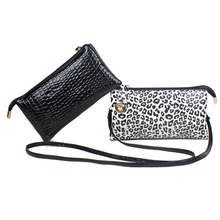 Hot Fashion Women Multifuctional Black Zebra Leopard Paragraph Square Section Hand Bag Lady Crossbody Bag Female Wallet