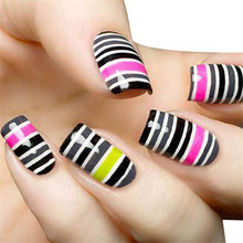 30Pcs Mixed Colors Rolls Striping Tape Line Nail Art Tips Decoration Sticker 2017 Hot product discount beauty(China)