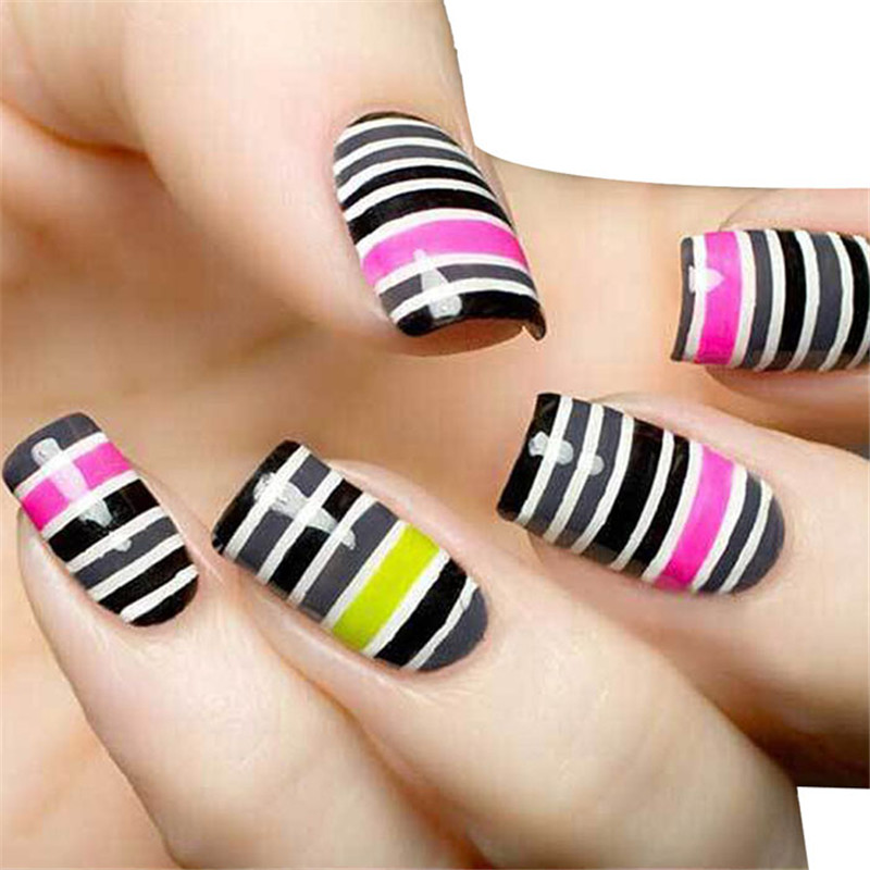30Pcs Mixed Colors Rolls Striping Tape Line Nail Art Tips Decoration Sticker 2017 Hot product discount beauty(China (Mainland))