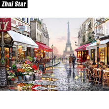 HOME BEAUTY diamond embroidery kits diy 5d diamond painting mosaic pattern picture of rhinestones crystals Eiffel Tower   zx