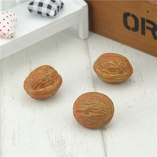 Cheap 10pcs 3cm Walnut Mini Artificial Fake Fruits and Vegetables Berries Flowers For Wedding Christmas Tree Cake Decoration