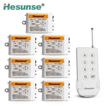 Y-F211B1N7 220V 7A 315mhz 7 Channels Wireless RF Remote Control Switch Disconnect Switch Learning Code Switch 110V<br><br>Aliexpress
