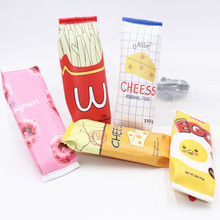 Cute School Pencil Case for Girls Boy Korea Leather Snack Cookie Kawaii Pencilcase Stationery Office School Supplies Pen Box Bag(China)