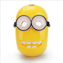 LED Glowing Despicable Me Minions Halloween Mask Children's Cartoon Superhero Mask Spider-man Toy Glow With Lamp Spiderman Mask