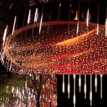 Hot30cm Meteor Shower Rain Tubes Christmas Lights Led Lamp 100-240V Outdoor Holiday Light New Year Decoration Warm White