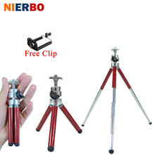 Mini Camera Tripods + Clip Phone Holder Flexible Tripods Mobile Cellphone Selfie Photographic Projector Bracket Portable Travel