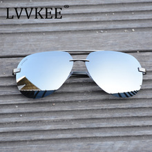 2017 LVVKEE Luxury Brand Classi Aviator HD Polarized Men women Driver Mirror sunglasses Rimless eyeglasses Gafas Oculos UV400(China)