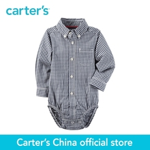Carter's 1pcs baby children kids Gingham Button-Front Bodysuit 225G603,sold by Carter's China official store
