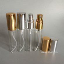 12x 10ml Refillable Empty Transparent Crystal Cut Glass Perfume Spray Bottles with Aluminum Atomizer