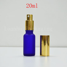20ml frosted blue glass bottle , wholesale perfume bottles  mist spray ,sample Bottle,Small Perfumes Atomizer