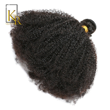 Afro Kinky Curly Weave Human Hair Bundles Remy Brazilian Hair Weaving 1PC Extension Weft Can Be Dyed 10-28 Inch King Rosa Queen