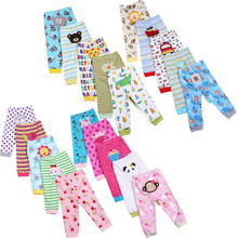 5pcs / Lot Baby Gril Pants Embroidered Animals Baby Pants 100% Cotton Infant Trousers Children's Pants Baby Clothing Sets V20(China)