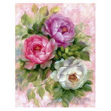 Rose Camellia Flowers 5D Diamond DIY Painting Rhinestone Canvas Embroidery Needle Handmade Painting Craft Kit Home Decor