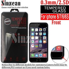 Buy Sinzean 500PCS NEW Arrival iphone 8/7/6S/6 Tempered Glass screen protector clear 0.3MM/2.5D/9H for $153.00 in AliExpress store