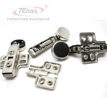 10pcs/lot 26mm Cup Full Overlay Soft Close Glass Cabinet Cupboard Hinge Damper Buffer Clip-on Base(China)