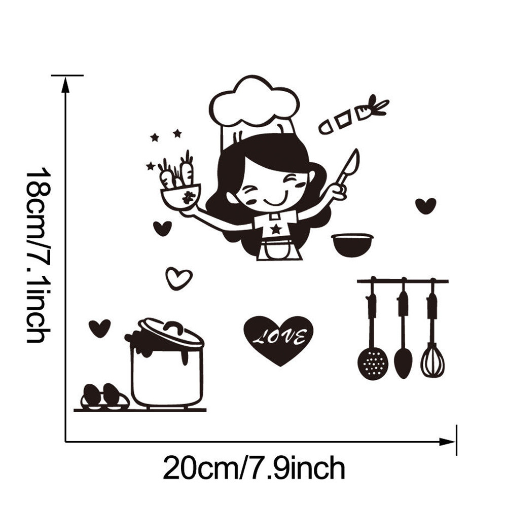 HTB1isqnogvD8KJjy0Flq6ygBFXaP - Kitchen Light Switch Sticker Cute Cook Vinyl Wall Decal