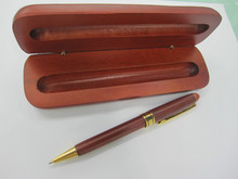 Green  Retro pen  Wooden red white  ballpen with box Mahogany  Log Gift Wooden box  Premium gift pen with box  Superior
