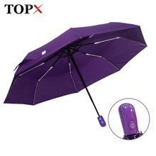 New Automatic Umbrella Rain Women Men 3Folding Light and Durable Strong Colourful Umbrellas Kids Rainy Sunny Wholesale Price(China)