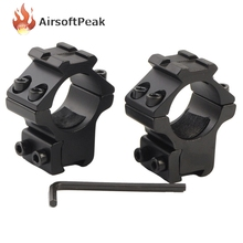 1 Pair Tactical 25.4mm Low Laser Scope Mounts Flashlight Ring Mount 11mm Rail Sport Airsoft Gun/Rifle/Shotgun Scope Ring Base ^