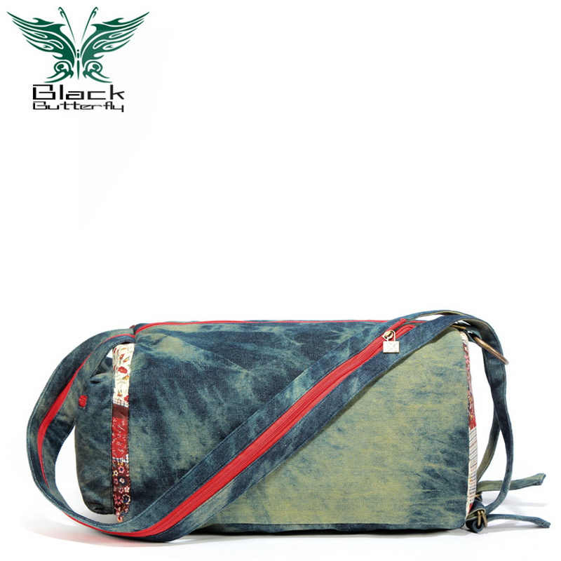 2017 denim canvas printing women school Bags for teenage girls casual travel bag shoulder bag zipper solid retro buckets female<br><br>Aliexpress