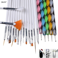 Elite99 20pcs Nail Art Design Set Dotting Painting Drawing Polish Brush Pen Tools Nail Brushes for UV Nail Gel Polish Draw Tools
