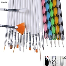 Elite99 20pcs Nail Art Design Set Dotting Painting Drawing Polish Brush Pen Tools Nail Brushes for UV Nail Gel Polish Draw Tools(China)