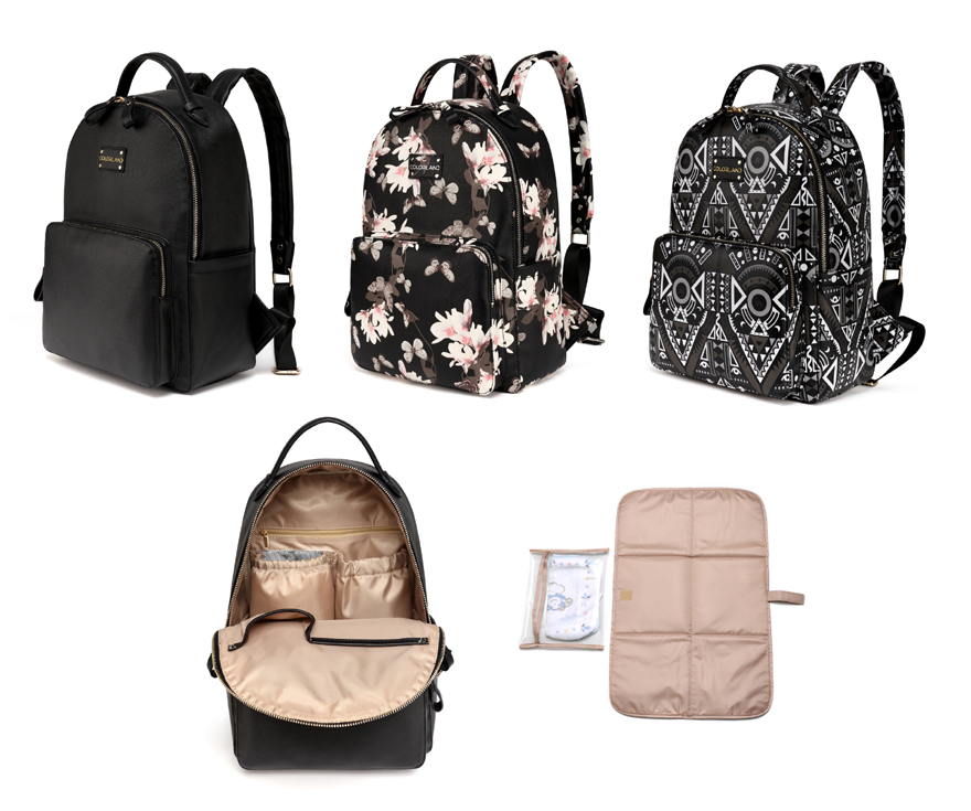 Free Shipping! PU Fashion Backpack baby diaper bag nappy bags Maternity Changing Bag Baby Care Organizer--BP140<br>
