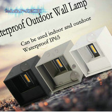 Modern Brief Cube Adjustable Surface Mounted 7W LED Wall Lamp Outdoor Waterproof IP65 Aluminum Wall Lights Garden Light Sconce