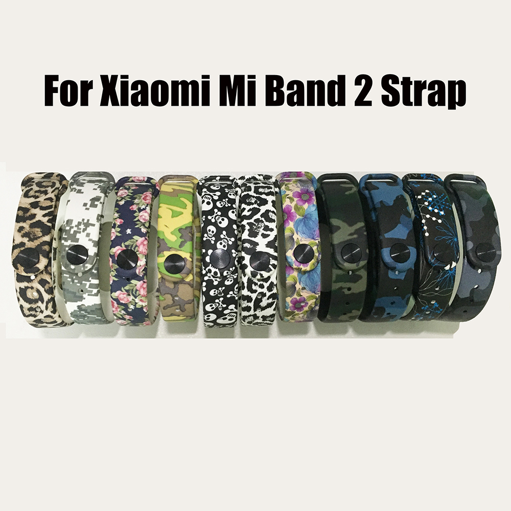 For Xiaomi Mi Band 2 Silicone Bracelet Strap Colorful Strap Wristband Replacement Smart Band Accessories For Mi Band 2