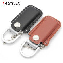 VBNM NEW metal USB flash drive,Leather & metal keyring Pendrive fashion creativo USB 2.0 16gb 8gb Memory stick U Disk