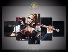 5 Pieces/set Harley Quinn HD Modern Wall Art For Home Decoration Picture Paint on Canvas Prints Painting for Living Room