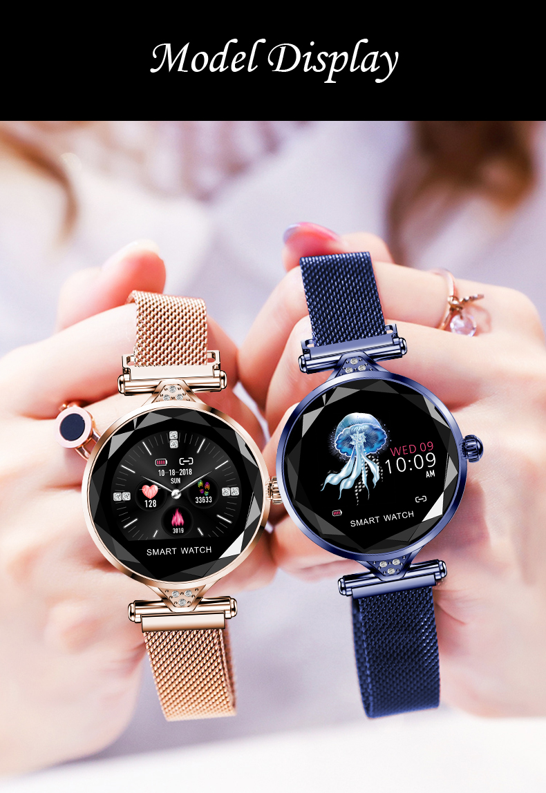 H1 Women Fashion Smartwatch Wearable Device Bluetooth Pedometer Heart Rate Monitor Smart Watch For AndroidIOS Smart Bracelet (15)