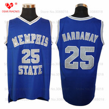 Top Qua Memphis State #25 Penny Anfernee Hardaway Jersey Throwback College Basketball Jersey Vintage Retro For Mens Shirts Sewn(China)