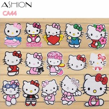 ASHION hello kitty cartoon series Embroidery patch diy clothing applique blossom DIY Accessory Sewing Supplies CA44