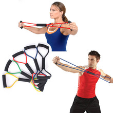 2015 5 color rubber developer latex chest expander tension device yoga Tube body bands elastic spring exerciser Resistance Bands