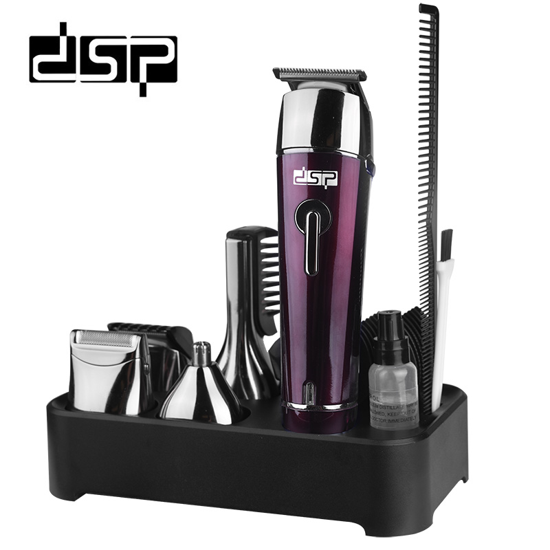 DSP 5 IN 1 Rechargeable Hair Trimmer Titanium Hair Clipper Electric Shaver Beard Trimmer Haircut Tools Shaving Machine for Men <br>