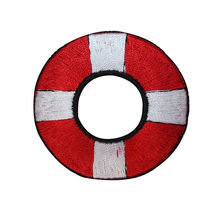 Life Preserver Ring Nautical Embroidered Iron On Badges Patches For Clothing Cartoon Motif Applique Sticker For Clothes