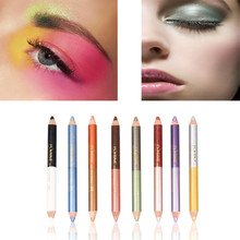 1pcs Waterproof Double Color Gradient Eye Shadow Matte Velvet Pearl Eyeshadow Pencil for Women Girl Eye Makeup (8 Colors Choose)