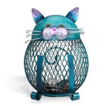 Tooarts Cat Bank Shaped Piggy Bank Metal Coin Bank Money Box Figurines Saving Money Home Decor Favor Gift For Kids Decoration(China)
