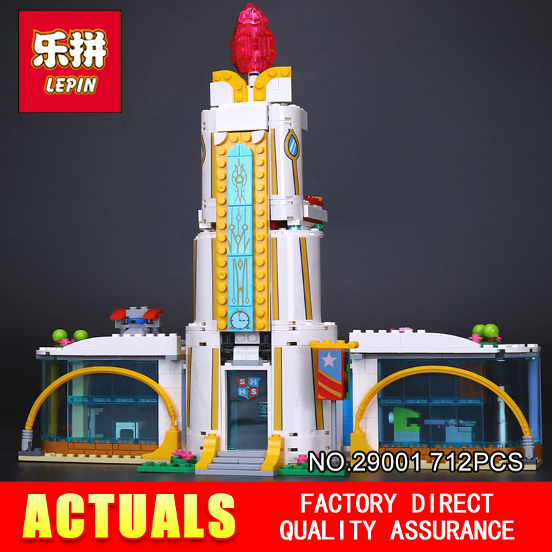Lepin 29001 712Pcs Girl Series The Super Hero High School Set Children Educational Building Blocks Brick Toys Model Gift 41232<br>