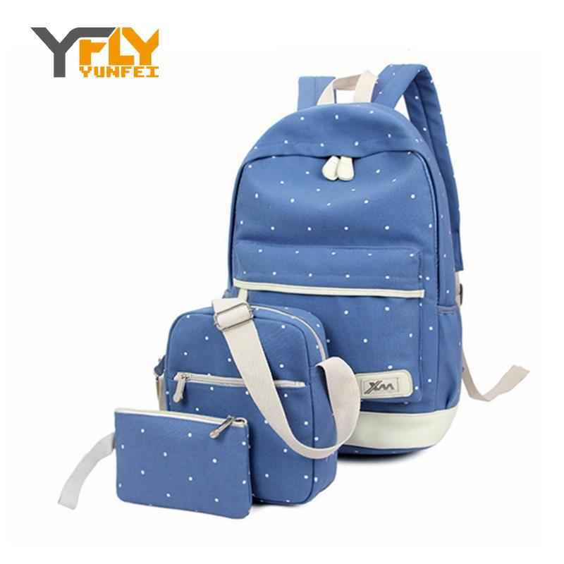 Y-FLY Hot Sale Backpack Sets Top Canvas Prreppy School Bag Backpacks for Teenager Girls Fashion Printing Mochilas Bags XB5045<br><br>Aliexpress