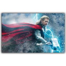 Thor Marvel Comics DC Comics Superheroes Poster For Home Decoration Silk Fabric Print Poster DY1098