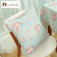 Cushion cover floral design rustic on sofa pillowcase for home decoration textile fabrics cushion(China)