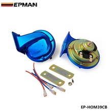 Electrical Car Snail Horn copper wire Chrome Blue Fit Auto/Truck/Motorcycle/E-Bike For BMW f20 1 series EP-HOM39CB