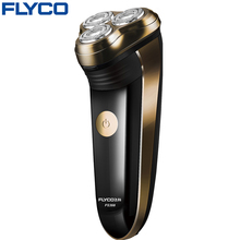 FLYCO professional 3 floating heads electric shaver for men with pop-up Trimmer Full heads washable razor charge indicator FS360(China)