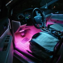 10 Colors Car Styling 2.3 mm 1M Lamps Car Interior Light Car Ambient Light Cold Light Line DIY Decorative with 12V drive