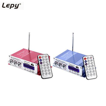 Mini Lepy HY-502 2CH Hi-Fi Stereo Distortion Low Noise Output Power Amplifier USB/SD Card Player With Remote Control FM Function