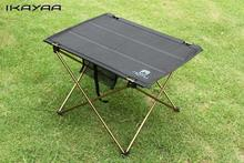 Outdoors Table For Camping Ultra-light Aluminium Alloy Picnic Folding Table Outdoor Tavel Portable Tables Black