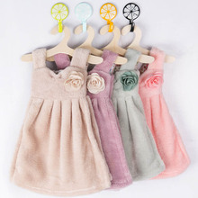 Lovely Skirt Dress Hand Towel Kitchen Cleaning Cloth Kids Children Home Bathroom Hanging Wipe Towel